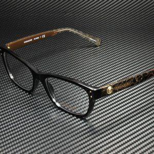COACH Black Brown 53mm Eyeglasses